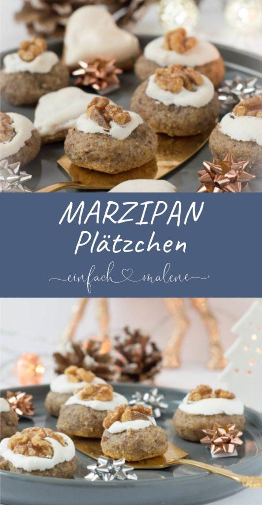 Diese Marzipan Plätzchen mit Zimt, Mandeln und Nüssen sind wirklich super lecker. Der Teig lässt sich am besten kalt verarbeiten. Viel Spaß beim Backen!