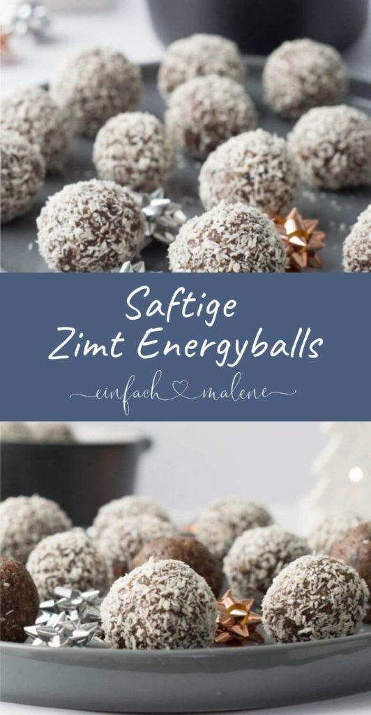Gesunde Zimt Energyballs mit Pecannüssen, Mandeln, Kakao und Datteln.Diese Zimt Energyballs sind der perfekte Snack für Zwischendurch, schnelle und gesunde Energie und eine tolle Alternative zu Schokolade & Keksen - vegan