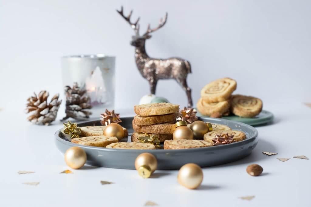Weihnachtskekse - Zimtschnecken Plätzchen