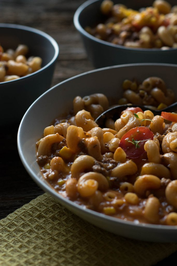 Einfaches Rezept für One Pot Pasta Bolognese