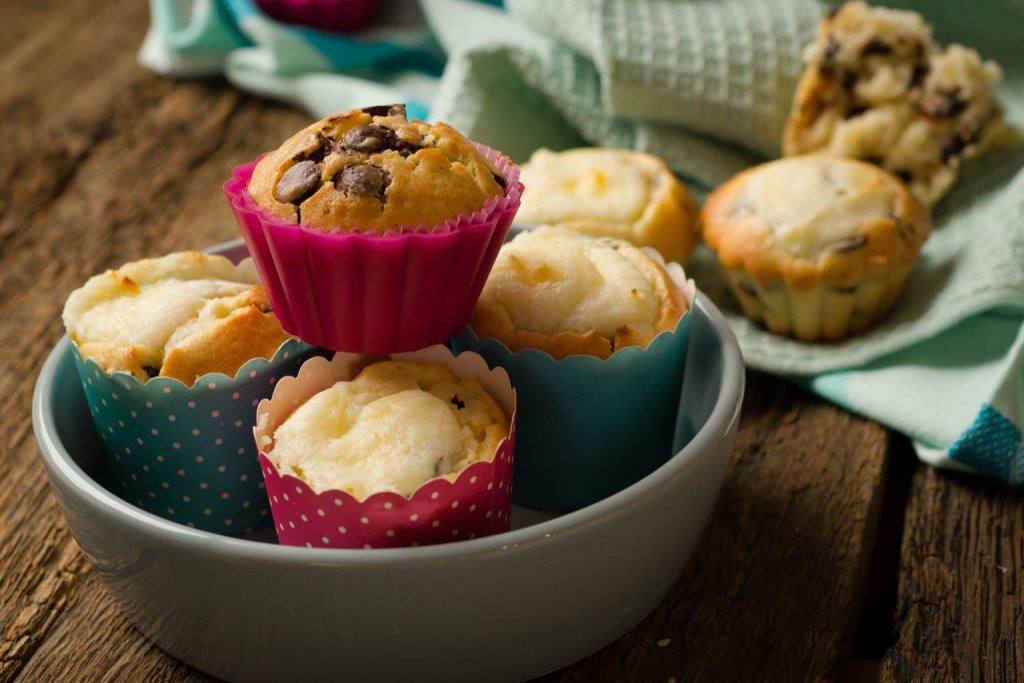 chocolate chip muffins ohne Backmischung