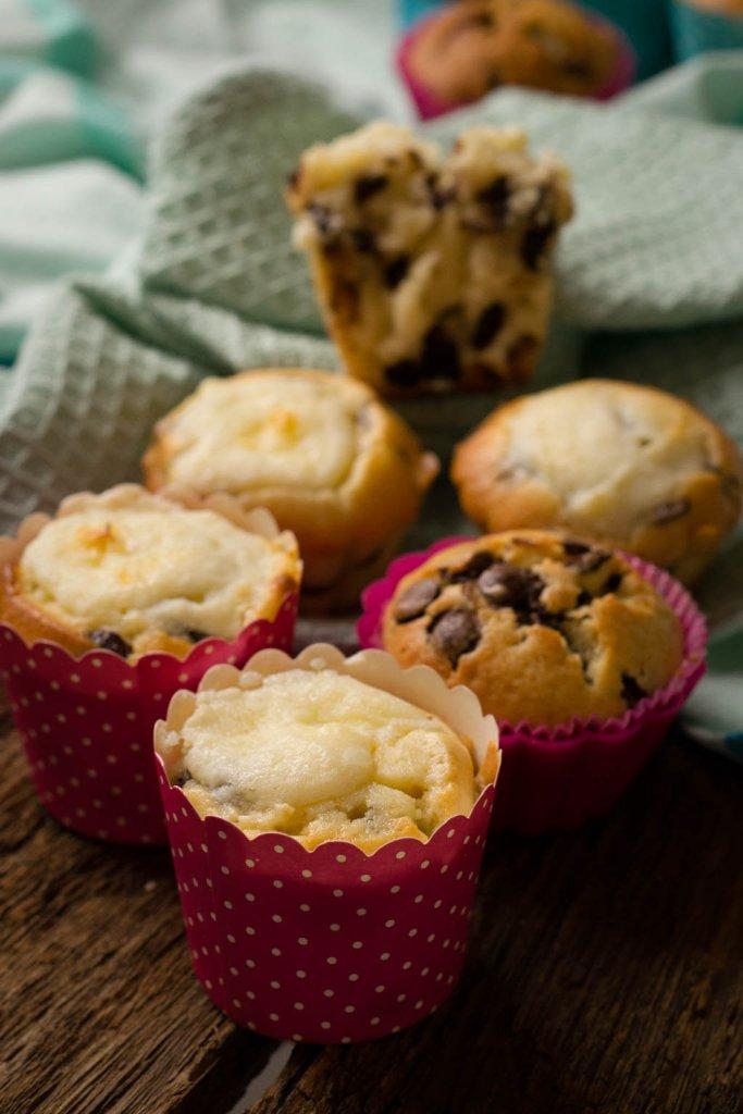 chocolate chunk muffins rezept