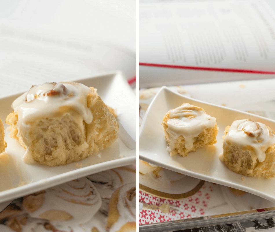Super leckere Cinnamon Rolls mit Frosting aus Frischkäse, Milch und Puderzucker