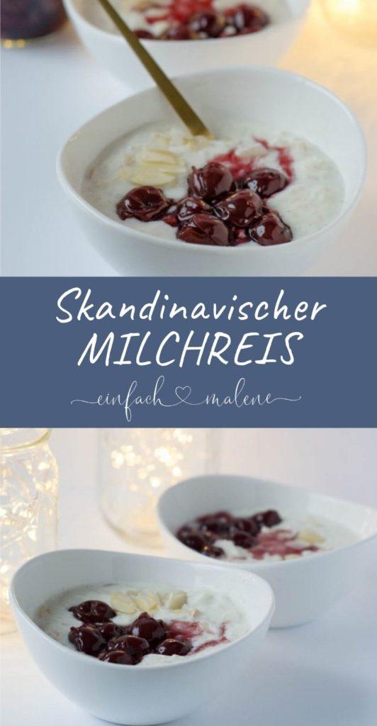 Weihnachten in Skandinavien - Sahne Milchreis mit heißen Kirschen oder auch Ris à la mande. Weihnachten in Bullabü: Es gibt diese Tradition in Skandinavien, denn dort wird Sahne Milchreis mit heißen Kirschen, auch als Ris à la mande oder Risalamande bezeichnet, zu Weihnachten serviert. Eine tolle und vor allem leckere Tradition.