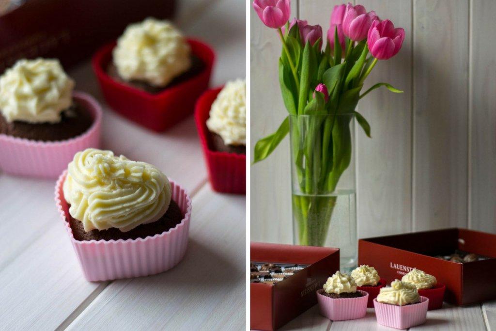 Cupcakes zum Valentinstag
