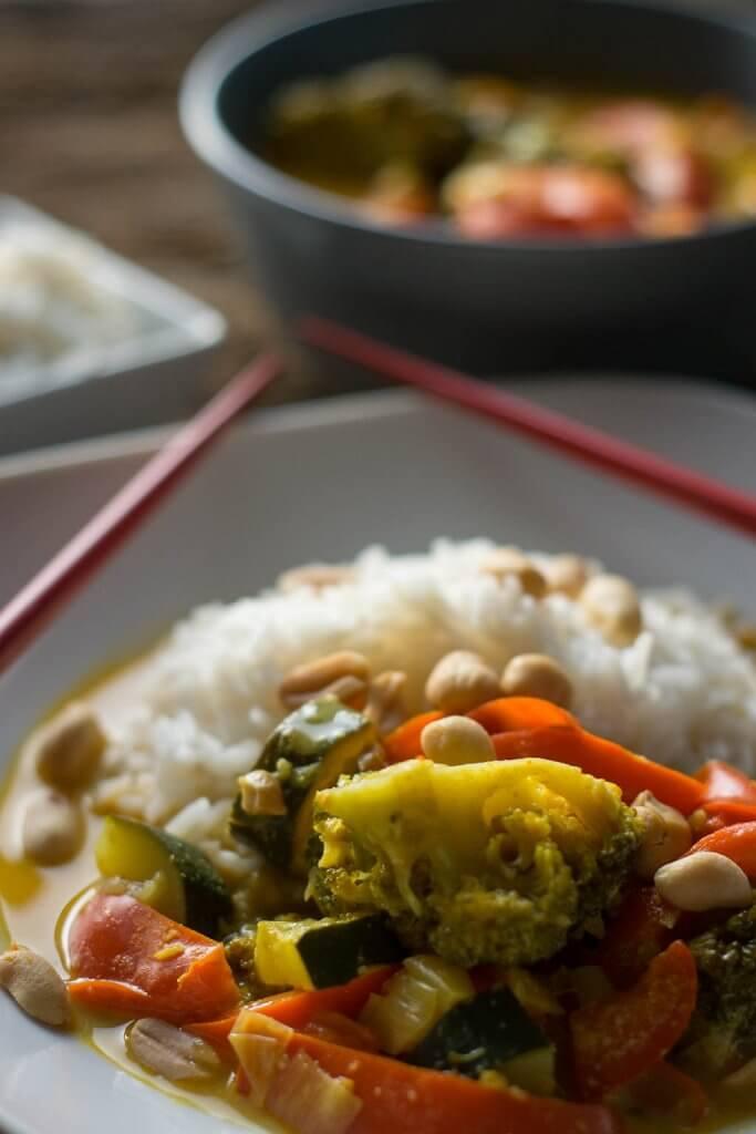 Super lecker - thai curry gelb vegetarisch