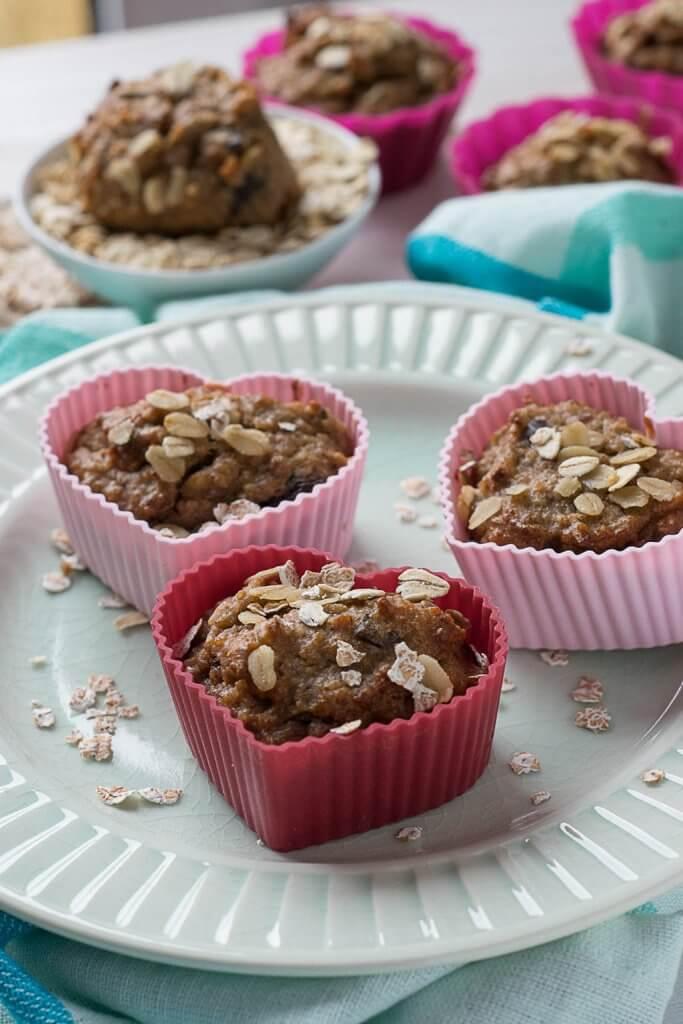 Schnelles Frühstück - schnelle schoko bananen muffins