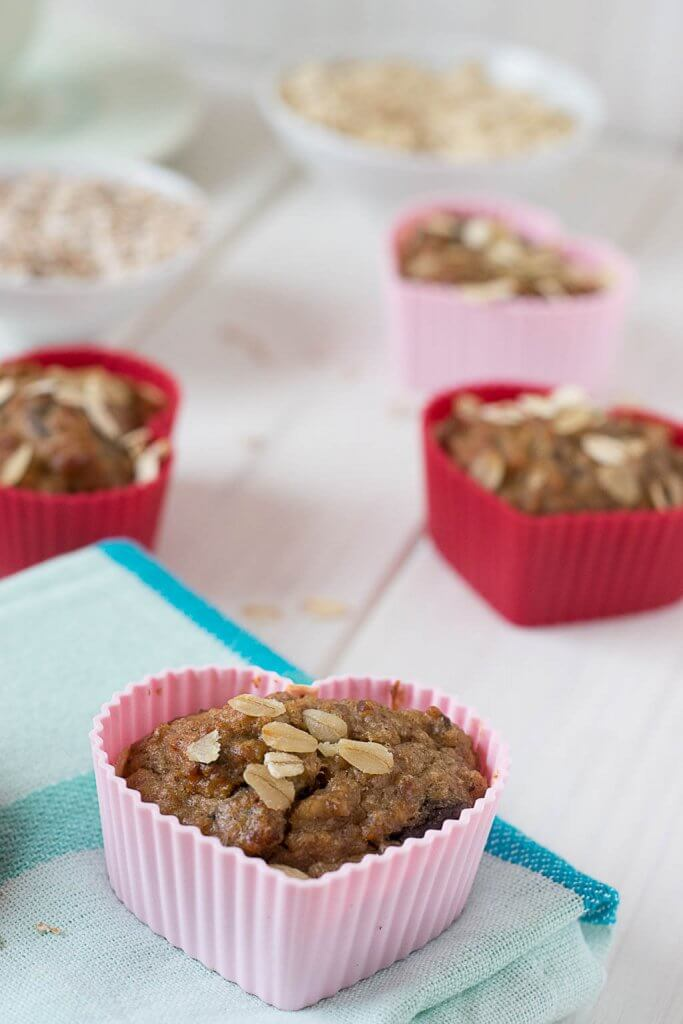 gesunde bananen muffins rezept zum Frühstück