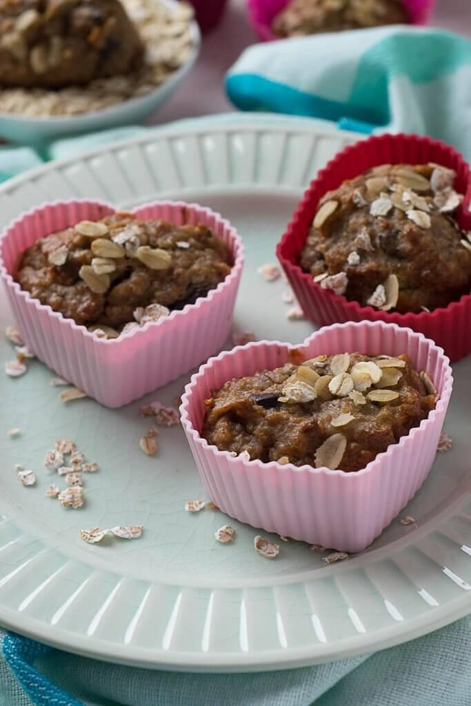 Frühstück to go - schnelle schoko bananen muffins