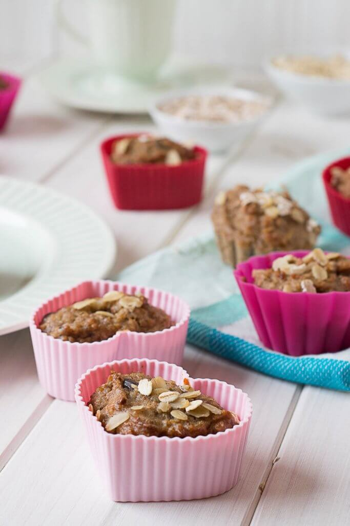 gesunde bananen schoko muffins