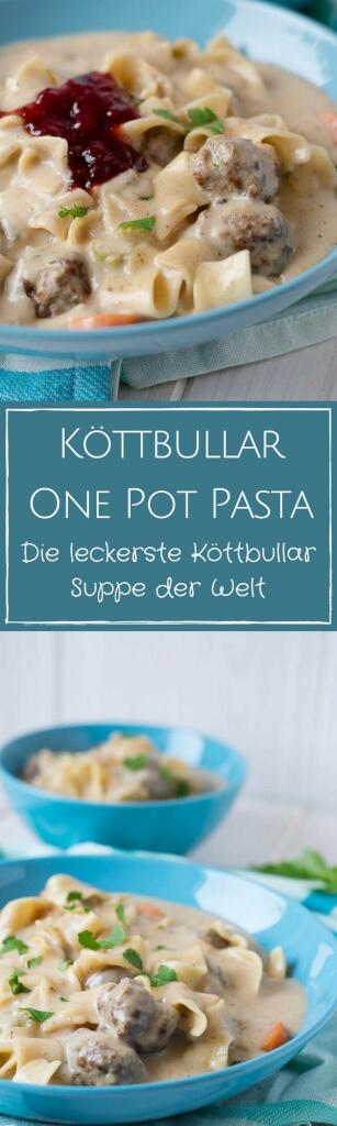 One Pot Pasta mit schwedischen Hackbällchen