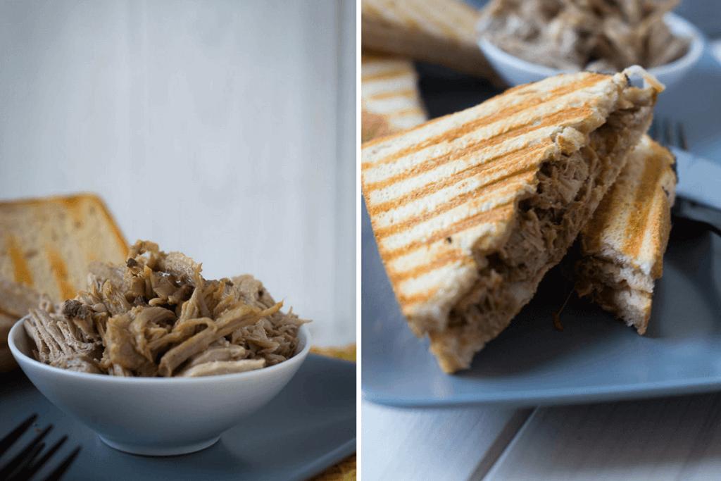 Rezept für perfektes Pulled Pork aus dem Slowcooker und als Sandwich zubereitet