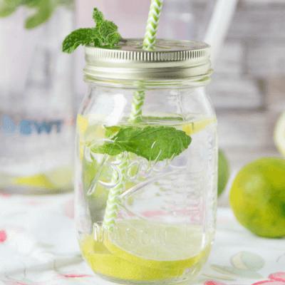 Magnesium Power – Erfrischungsdrink mit Minze, Limette und Zitrone