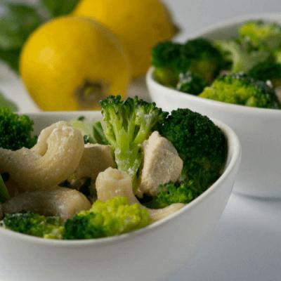 Lemon Chicken Pasta mit Brokkoli