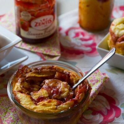 Erdbeer Quark-Grießkuchen im Glas