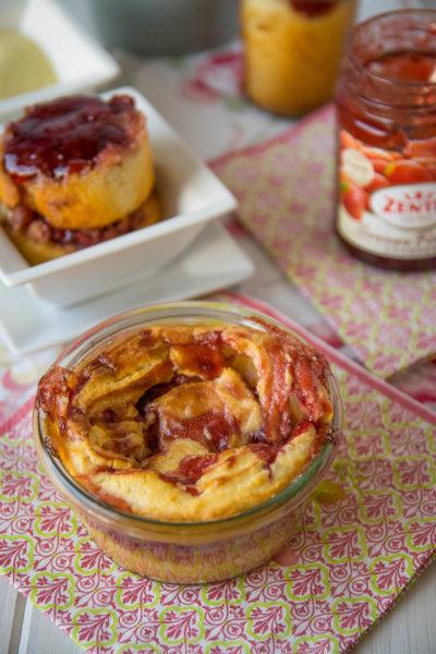 schneller kuchen mit erdbeermarmelade