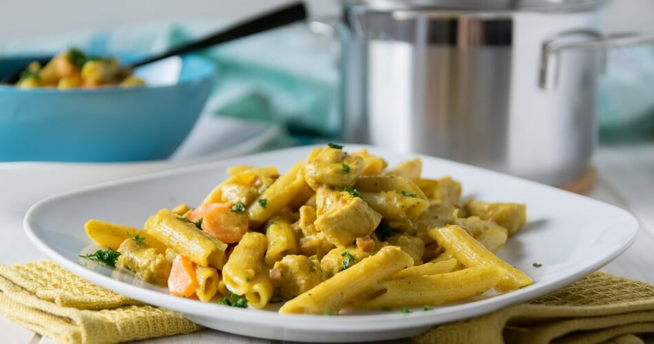 Cremige Chicken Curry One Pot Pasta