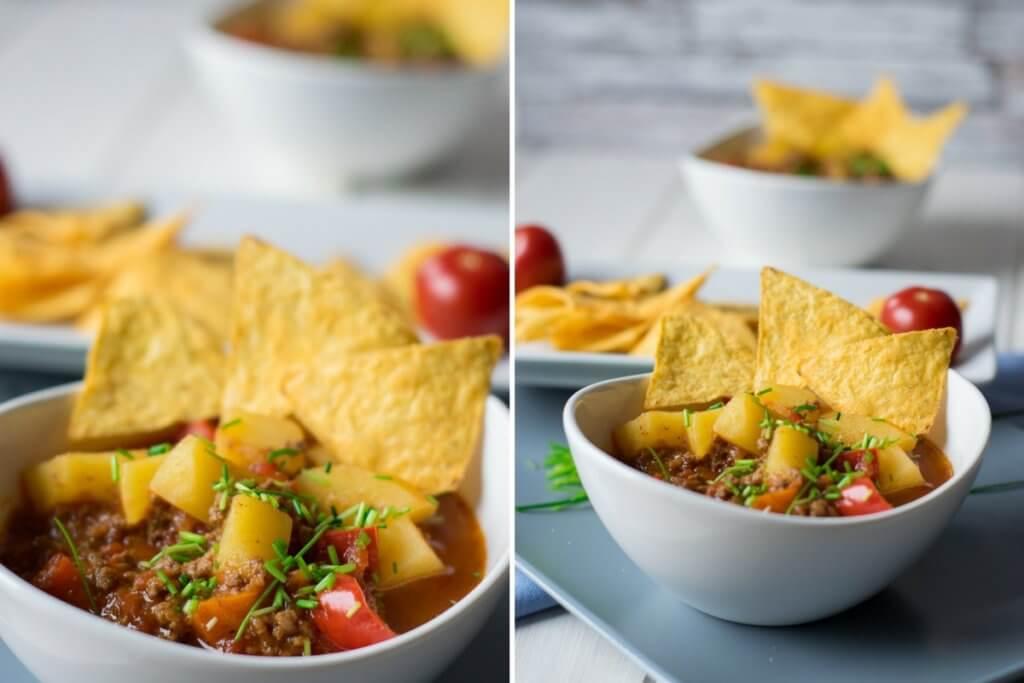 Leckeres Rezept Kartoffeleintopf mit Hackfleisch