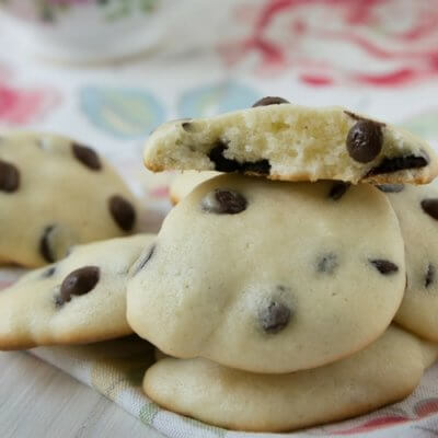 Cheesecake Cookies mit Chocolate Chips