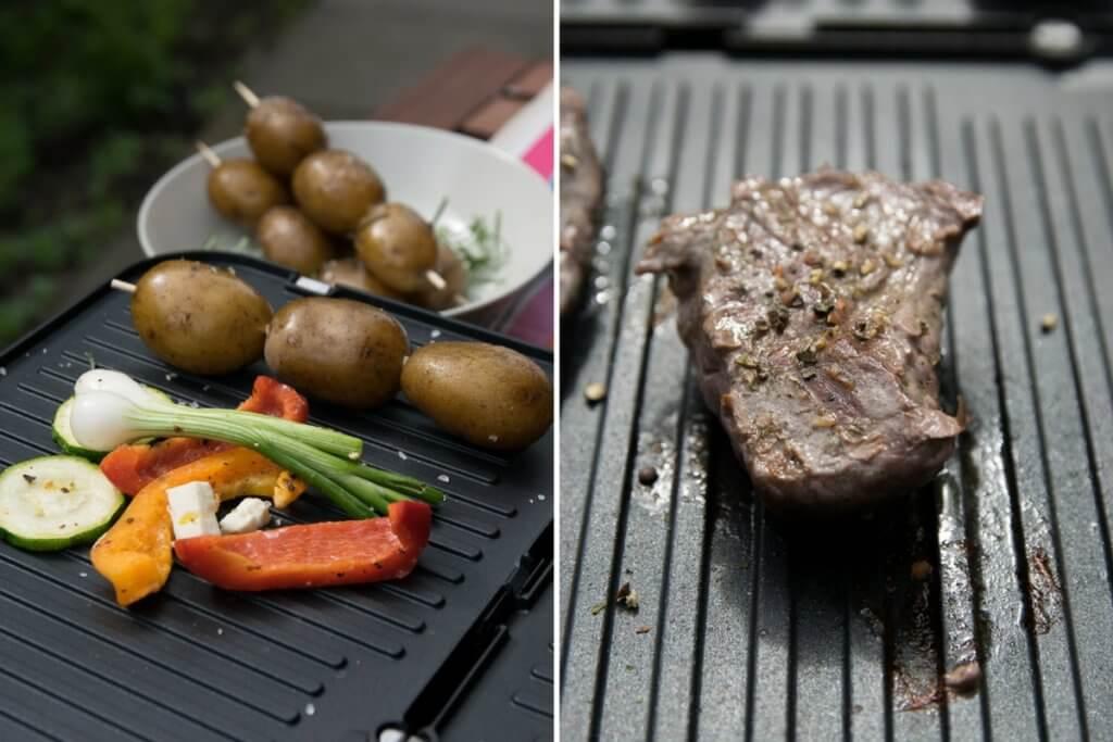 Steak vom Kontakgrill