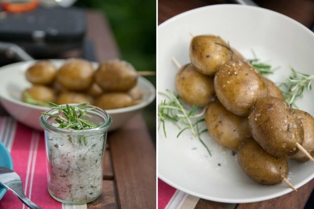 Rosamrinkartoffeln vom Grill