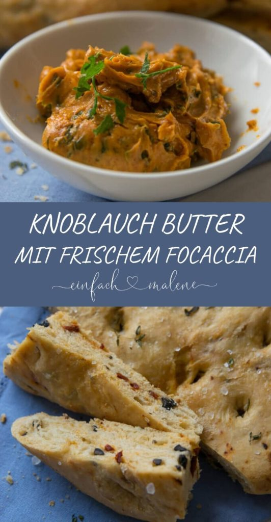 Grill-Rezept: Tomaten Oliven Focaccia mit feuriger Knoblauch Butter.