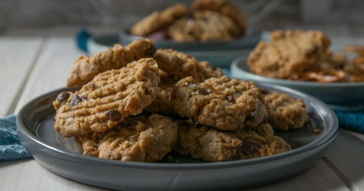 Erdnussbutter Salzbrezel Cookies