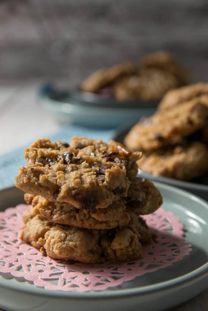 Rezept für Erdnussbutter Brezel Kekse