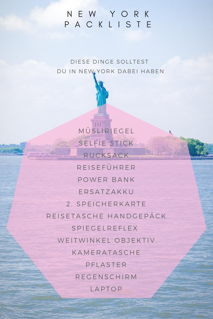 New York Packliste