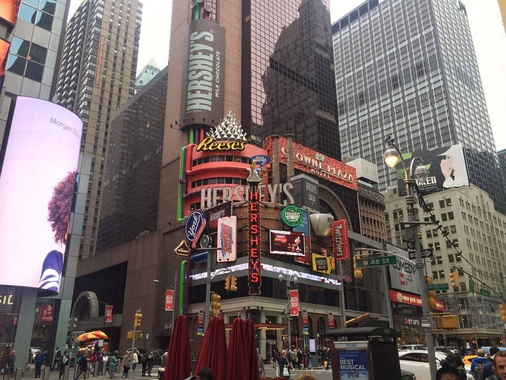 Hershey in New York am Time Square