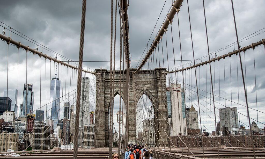 Fotospot in New York Brooklyn Bridge