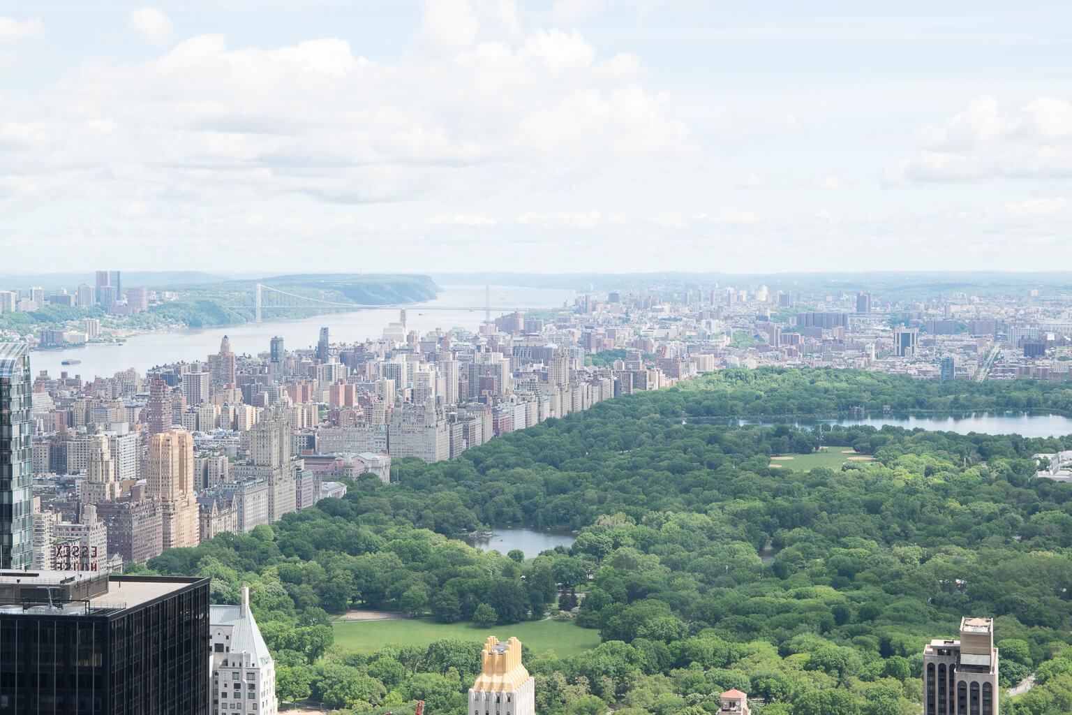 Central Park, Blick vom Rockefeller Center/Top of the Rocks