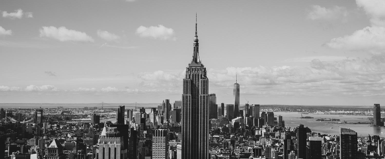 New York Fotospot Rockefeller Center - Blick von Top of the Rocks auf das Empire State Building