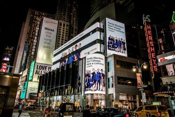 Große Werbetafeln New York Timesquare