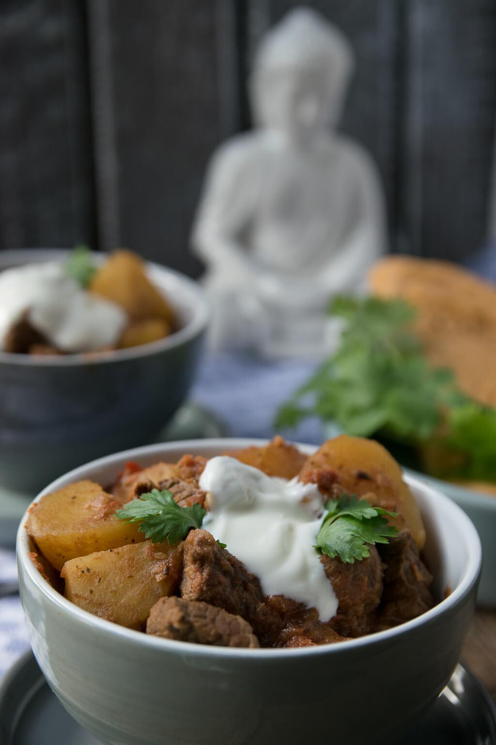 So gelingt dir der Curry Kartoffel Rindfleisch Topf auf alle Fälle