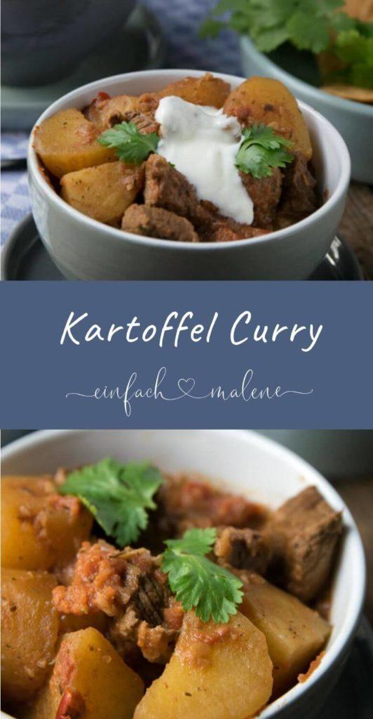 Einfach total lecker - Lieblingsrezept für Curry Kartoffel Rindfleisch Topf - besonders einfach zubereitet im Slowcooker