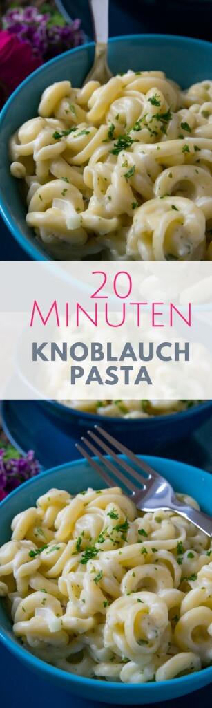 Knoblauch Pasta - fertig in 20 Minuten