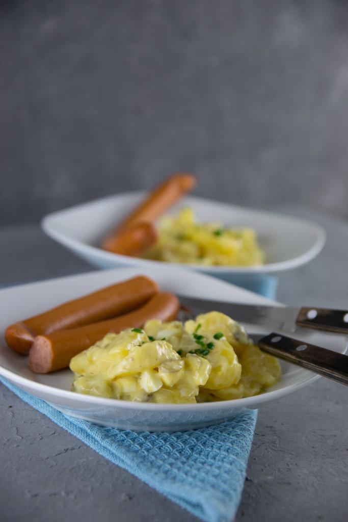 Rezept für leichten Kartoffelsalat nach norddeutschem Rezept