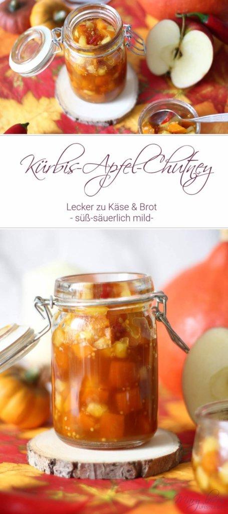 Kürbisliebe = Herbstliebe und dieses Rezept für Kürbis Apfel Chutney müsst ihr unbedingt ausprobieren