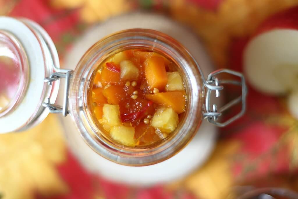 das perfekte Rezept im Herbst - Kürbis Apfel Chutney