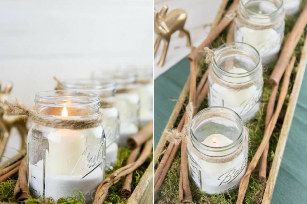 Mason Jar DIY Adventskranz