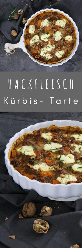 Kürbis Hackfleisch Tarte - Hammer - wie lecker klingt denn das und wie großartig sieht die Tarte bitte aus? Super tolles Rezept für die Kürbiszeit