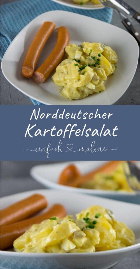 Alle lieben Kartoffelsalat! Rezept für leichten norddeutschen Kartoffelsalat. Das Rezept für leckeren Kartoffelsalat mit Würstchen lässt sich mit wenigen Zutaten zubereiten. Ein Klassiker auch an Weihnachten. Mit leichter Salatcreme! #weihnachten #kartoffelsalat #norddeutsch