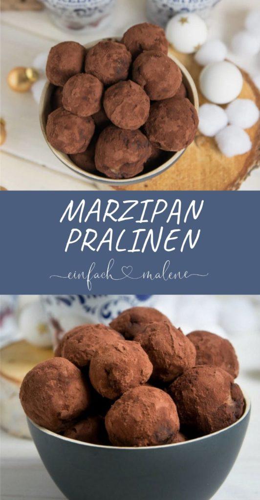 Marzipan Amarena Pralinen mit nur 5 Zutaten ganz einfach selber machen. Diese kleinen Kugeln haben es in sich! Denn die Amarena Kirschen werden von Nougat und Marzipan umschlossen und sehen wunderschön aus in ihrem Kakao-Mantel.
