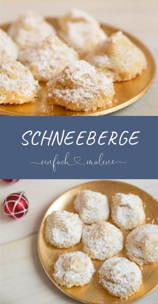 Schneeberge - Backen für Weihnachten geht in die nächste Runde. Weiße Weihnacht - zumindest auf dem Teller. Mit diesen zarten Schneebergen könnt ihr Weihnachten genießen! Die Kekse sind so zart & zergehen auf der Zunge.