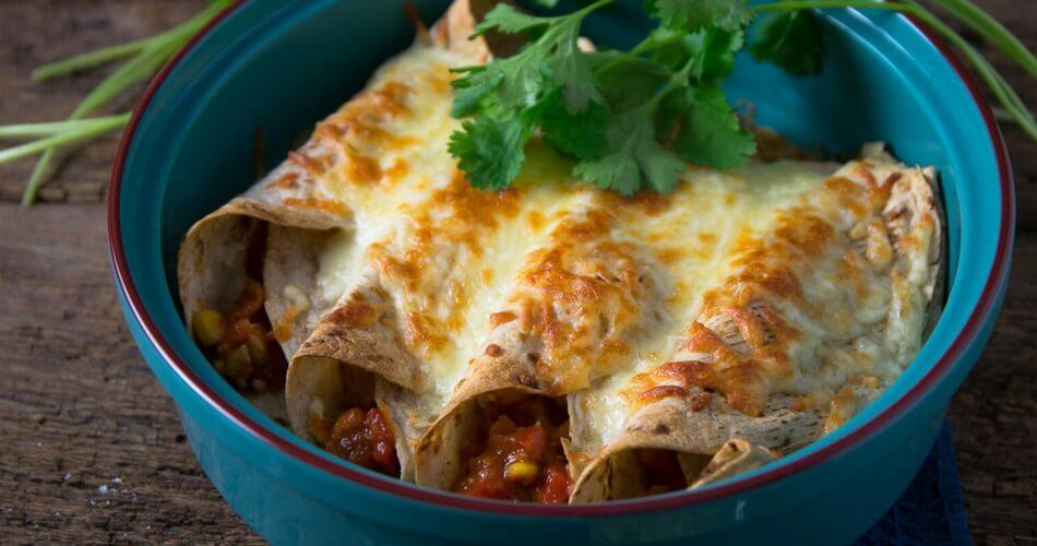 Super leckere Geflügel Burritos