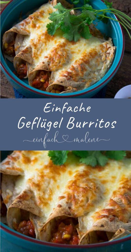 Diese Geflügel Burritos sind super einfach zuzubereiten & schmecken unglaublich lecker. Wir haben noch Tage später davon geschwärmt! Mega gut mit Guacamole. #einfacherezepte #burritos