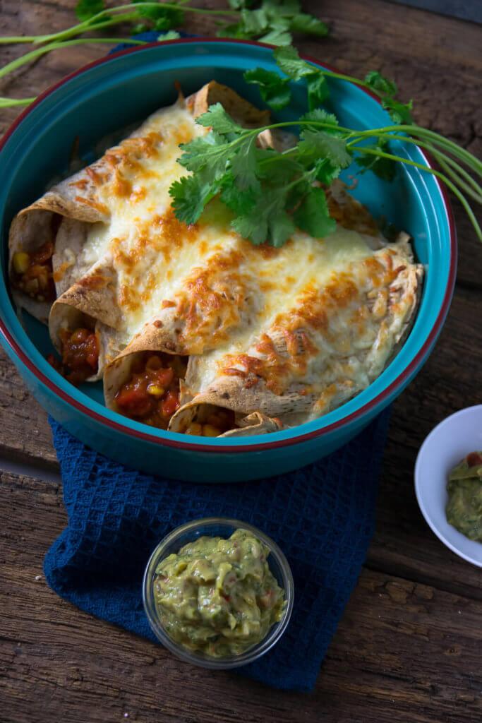 Mexikanische Geflügel-Burritos