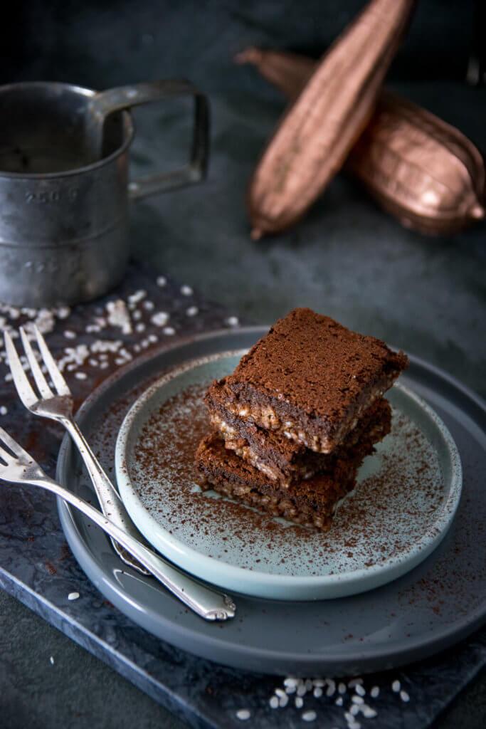 Saftige Milchreis Brownies -3