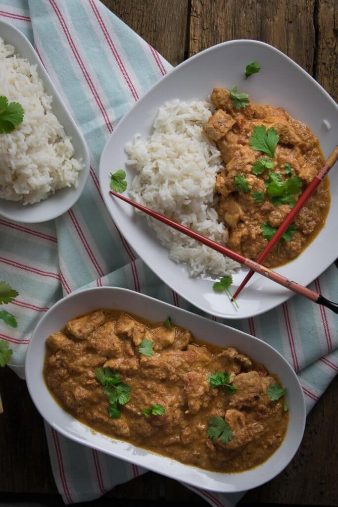 Curry, Chicken, Reis und Koriander - so gelingt das indische Butter Chicken garantiert